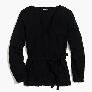 N CREW WRAP TOP in black. BRAND NEW W TAGS